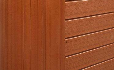 Arcadia Spas natural cabinet